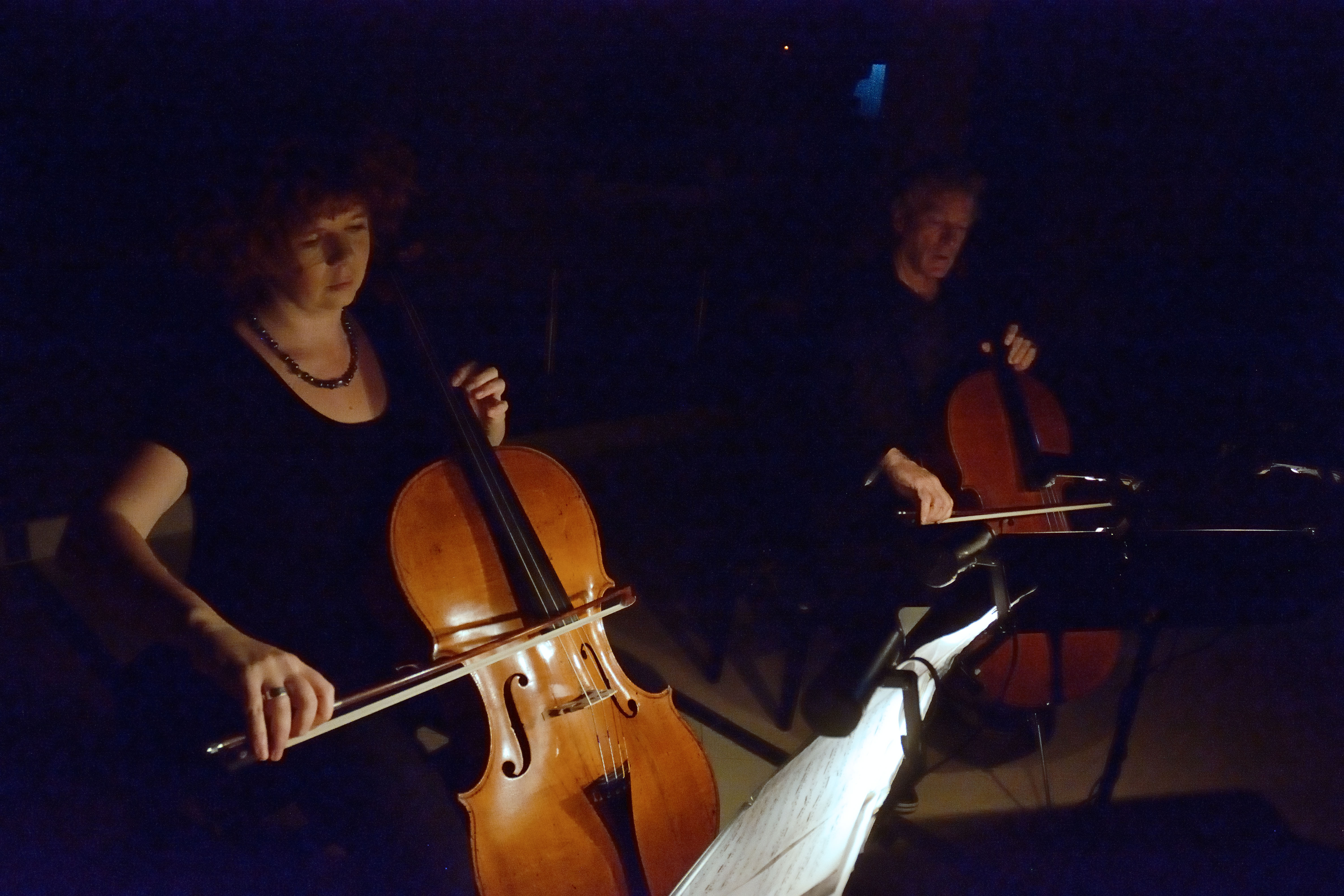'Bach in the Dark' with Daivd Pereira (Ainslie church) Photo : Peter Hislop