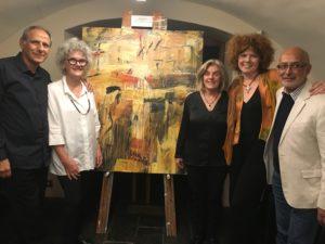 Raffaele Agostino, Judith White, Janet Agostino, Rachel and Richard Charlton at the 'Consonance' CD launch.