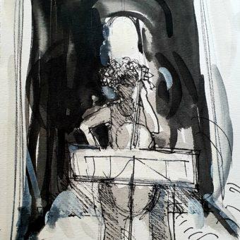 drawing of coal loader rachel